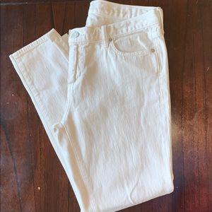 Cream color girlfriend ankle length jean
